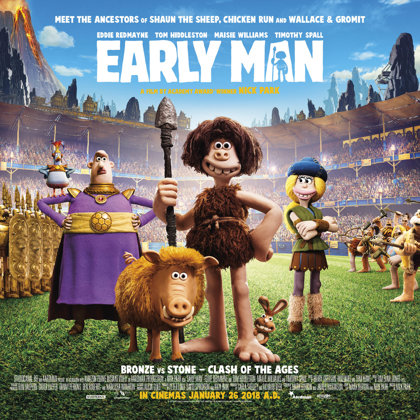 Woensdag 21 februari 2018, 'Early Man' in FC Hyena